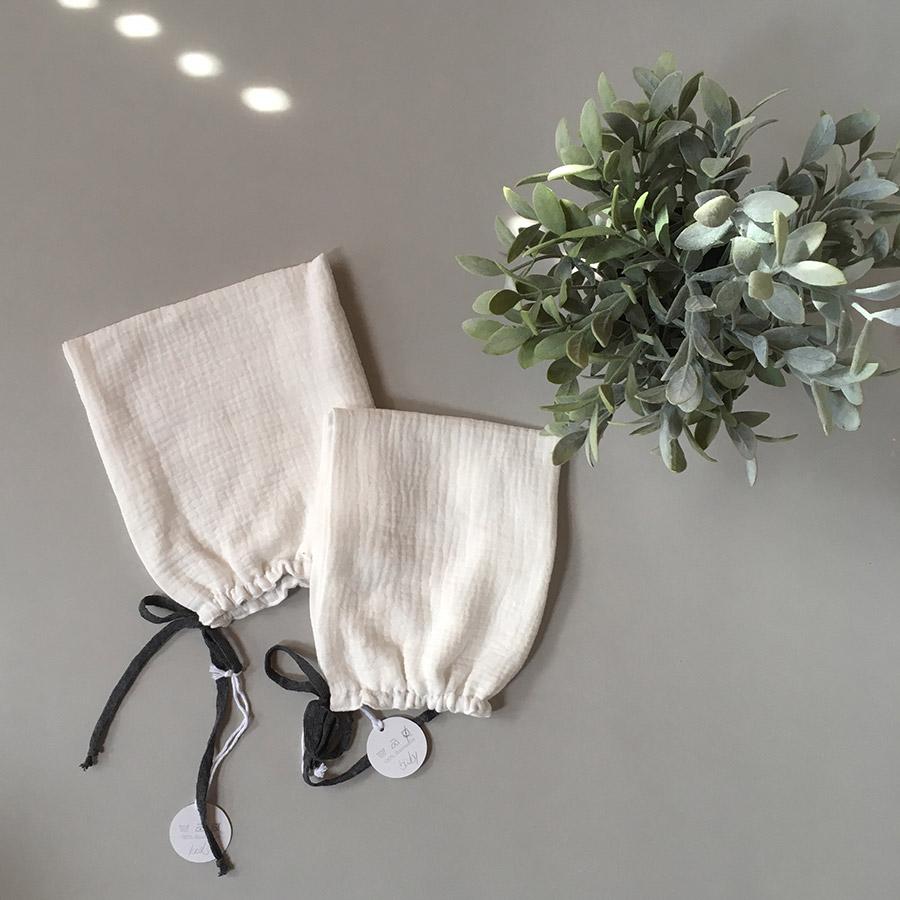 ●ドイツから liilu pixie bonnet オーガニックコットン  [※1 クリックポスト可] ボンネット white