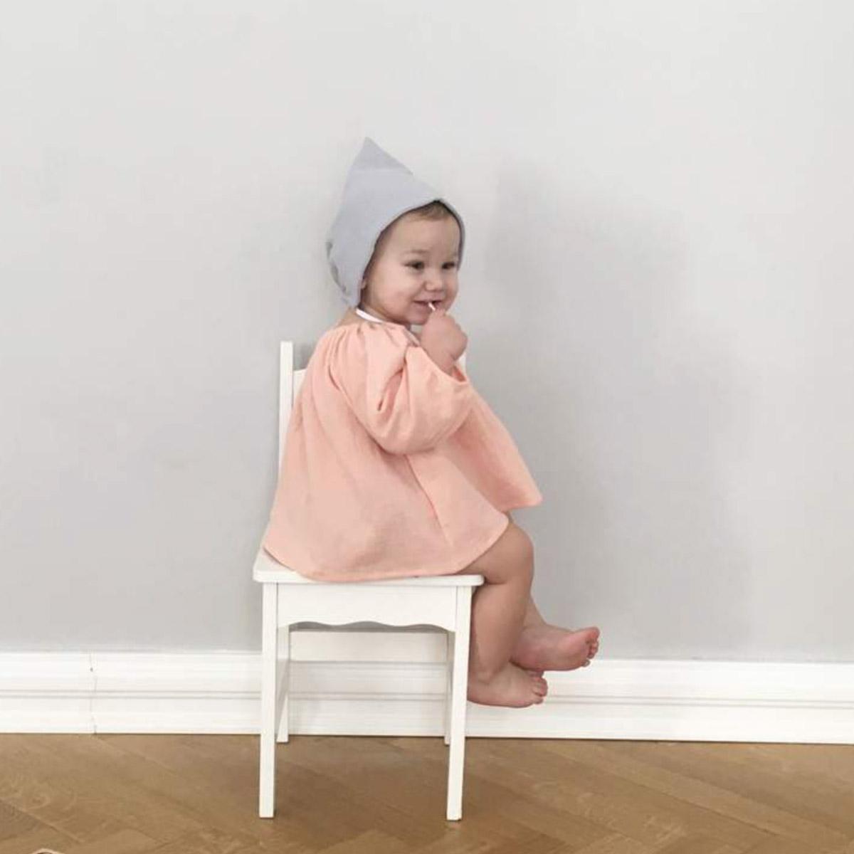 ●ドイツから liilu pixie bonnet オーガニックコットン  [※1 クリックポスト可] ボンネット grey