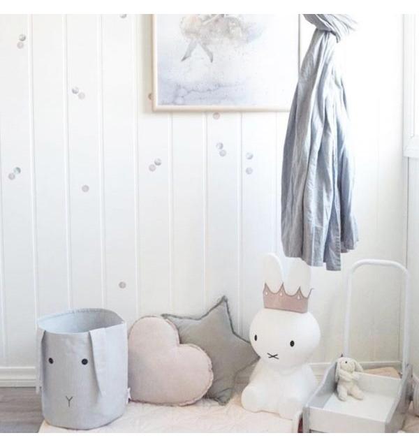 FROM DENMARK LIEWOOD Ella Fabric Basket 100% ORGANIC COTTON Rabbit rose 直径25cm 高さ30cm