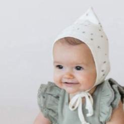 ●Quincy Mae オーガニックコットン Gathered Bloomer  [ネコポス対応可] Ivory 新生児-50サイズぐらいまで