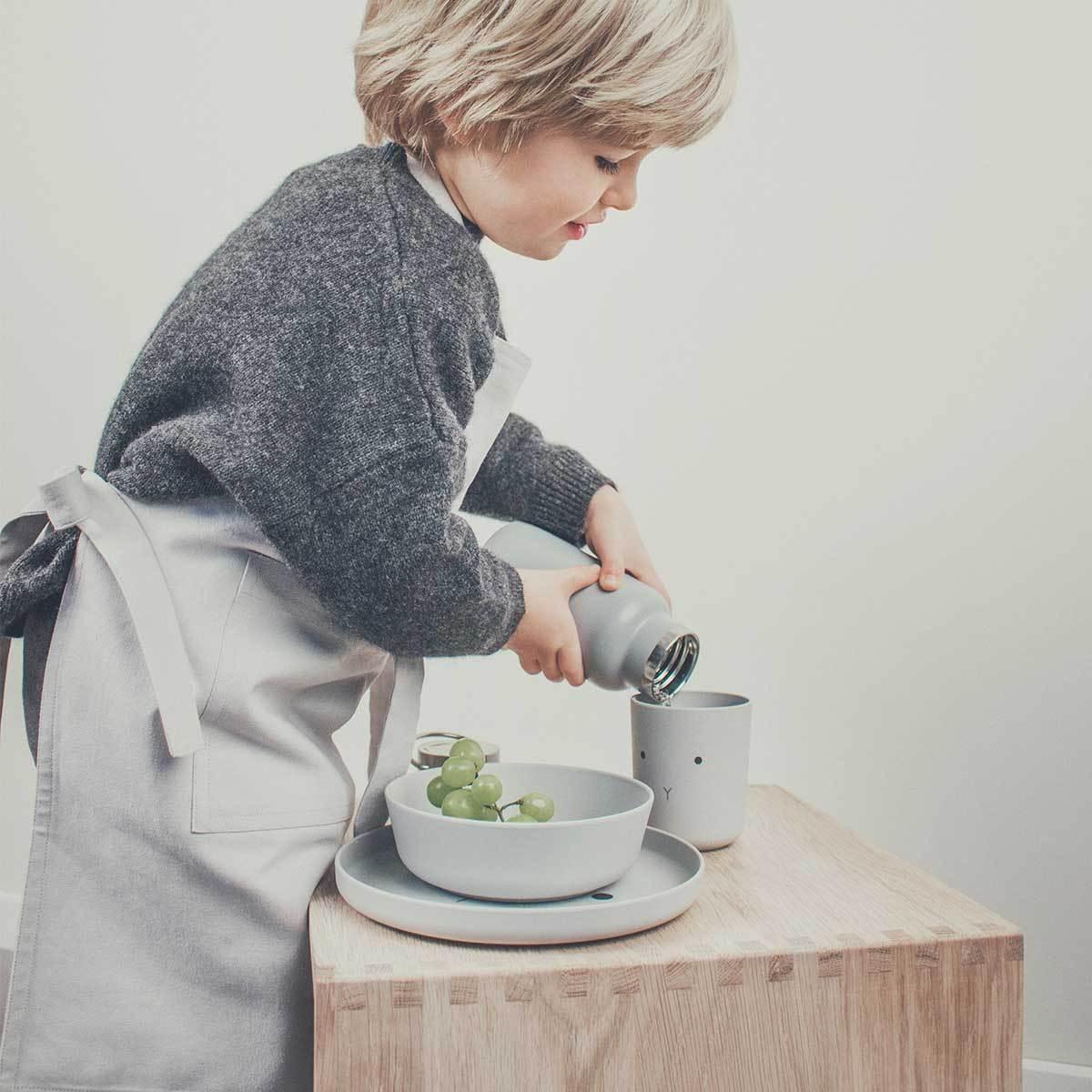 LIEWOOD デンマークから Bente / Bamboo cup / 2pack - Rabbit dumbo grey ラビットコップ2点セット