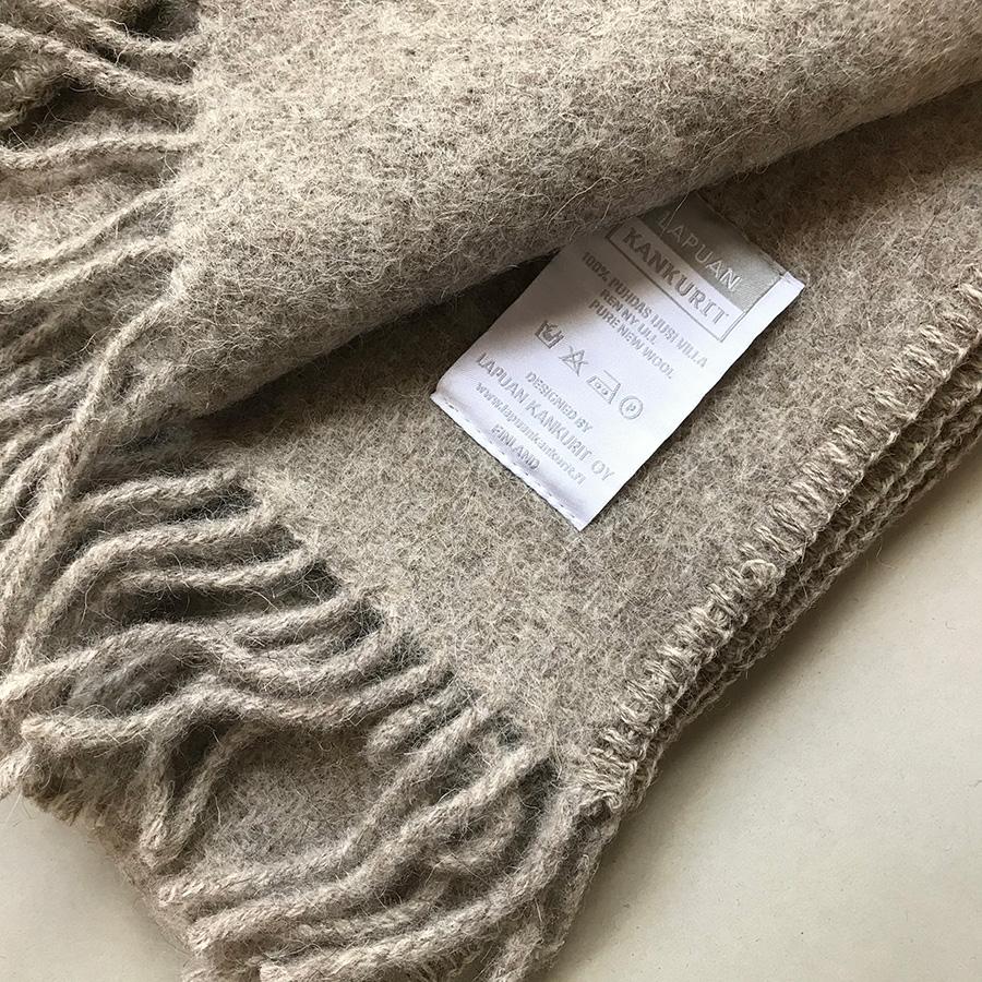 From Finland LAPUAN KANKURIT Pocket shawl UNI blue/ brown / grey 60 x 170cm