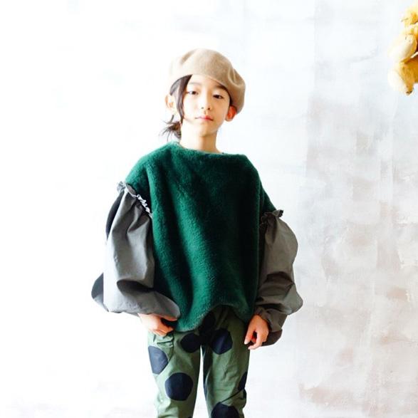 【60% OFF】BOA BODY WAVE CUT SLEEVES TOPS /GREEN- GRAY S/-/-