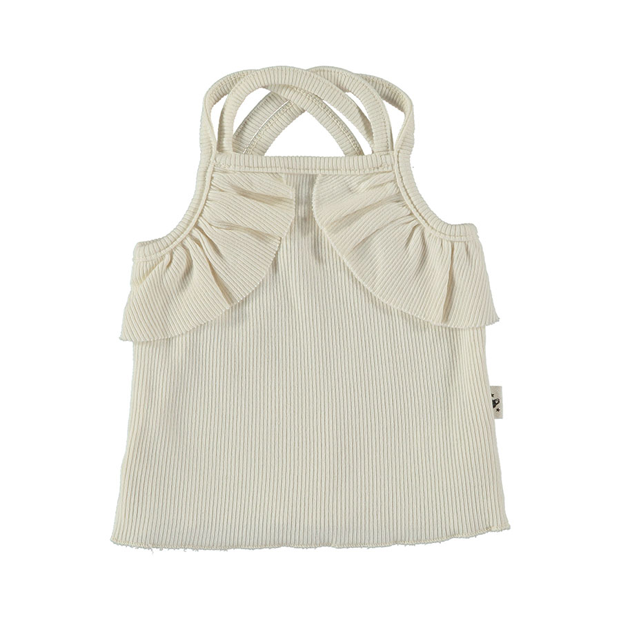 [30%OFF]From spain MY LITTLE COZMO TOP CANDY37  オーガニック ORGANIC/カラー IVORY /60-70/70-80