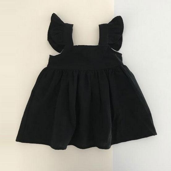 ●ドイツから pianafore dress  オーガニックコットン  black 1-2Y/2-4/4-6Y