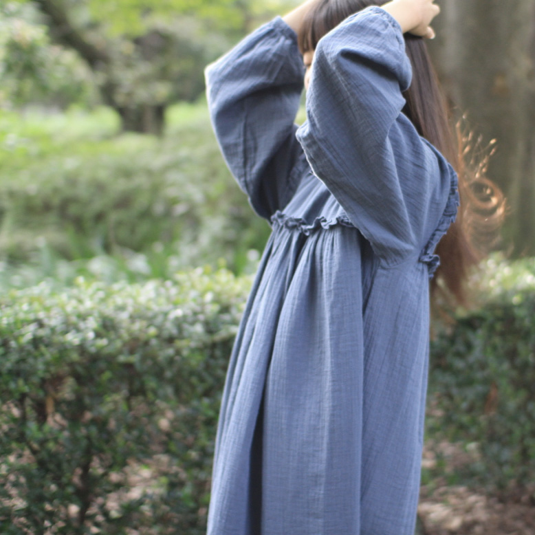● From Germany liilu Liana Dress  大人サイズ Hazy Blue / Olive