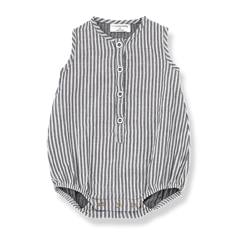 [50%OFF]From spain 1+in the family BASILE romper 60-70/-/- GREY