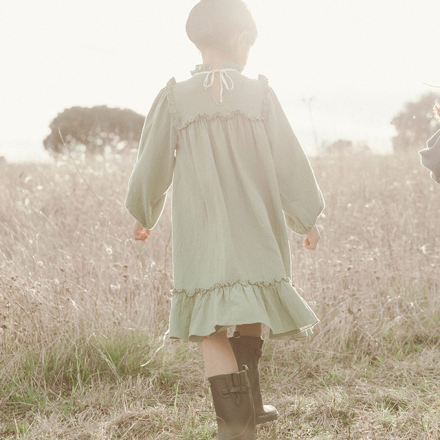 ●From Germany liilu Liana Dress  -/-/-/6-8/-/- Mustard