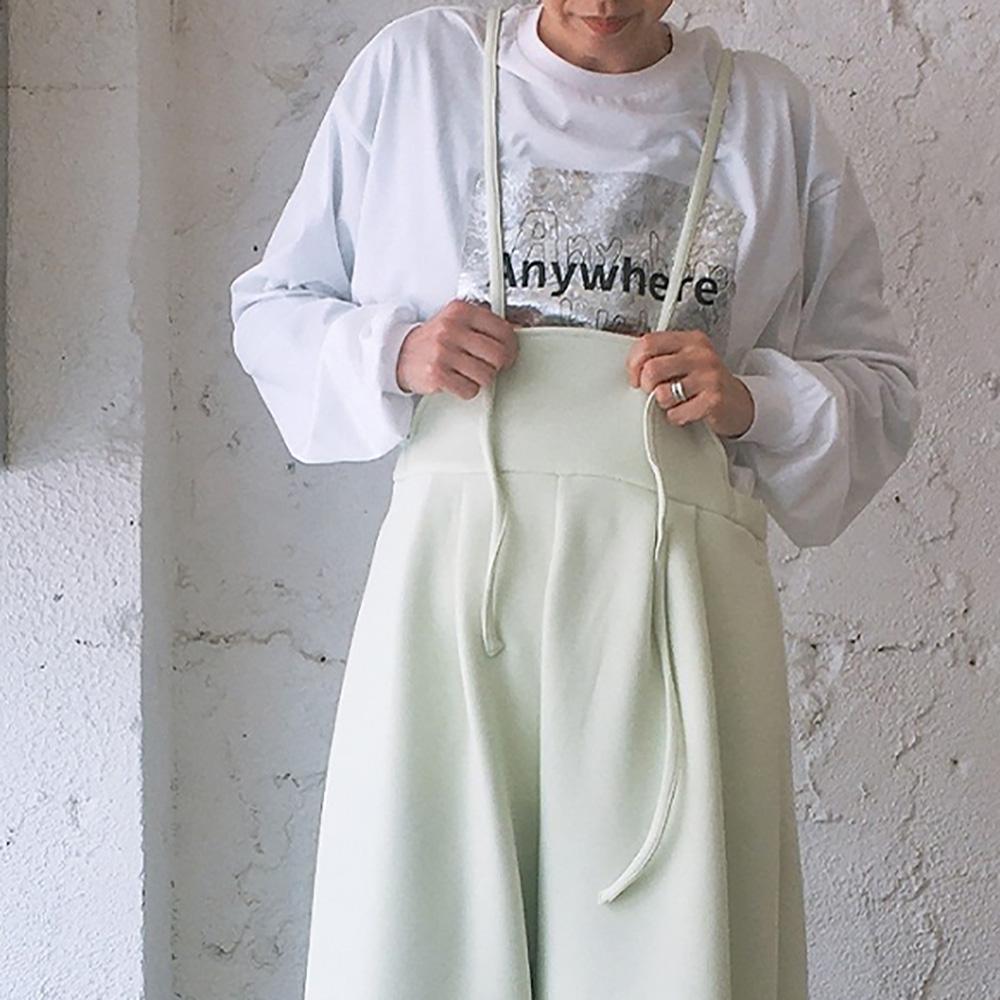 frankygrow CRUMPLE FOIL L/STEE /フリーサイズ カラーホワイト