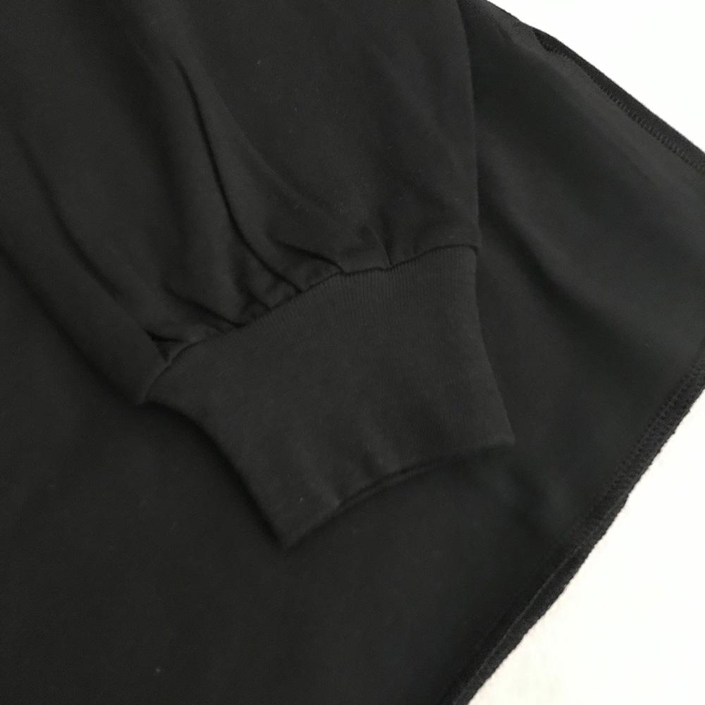 frankygrow CRUMPLE FOIL L/STEE /フリーサイズ カラーブラック