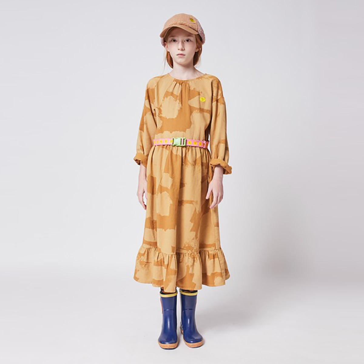 From spain BOBO CHOSES Painting All Over woven midi dress 110/120/130