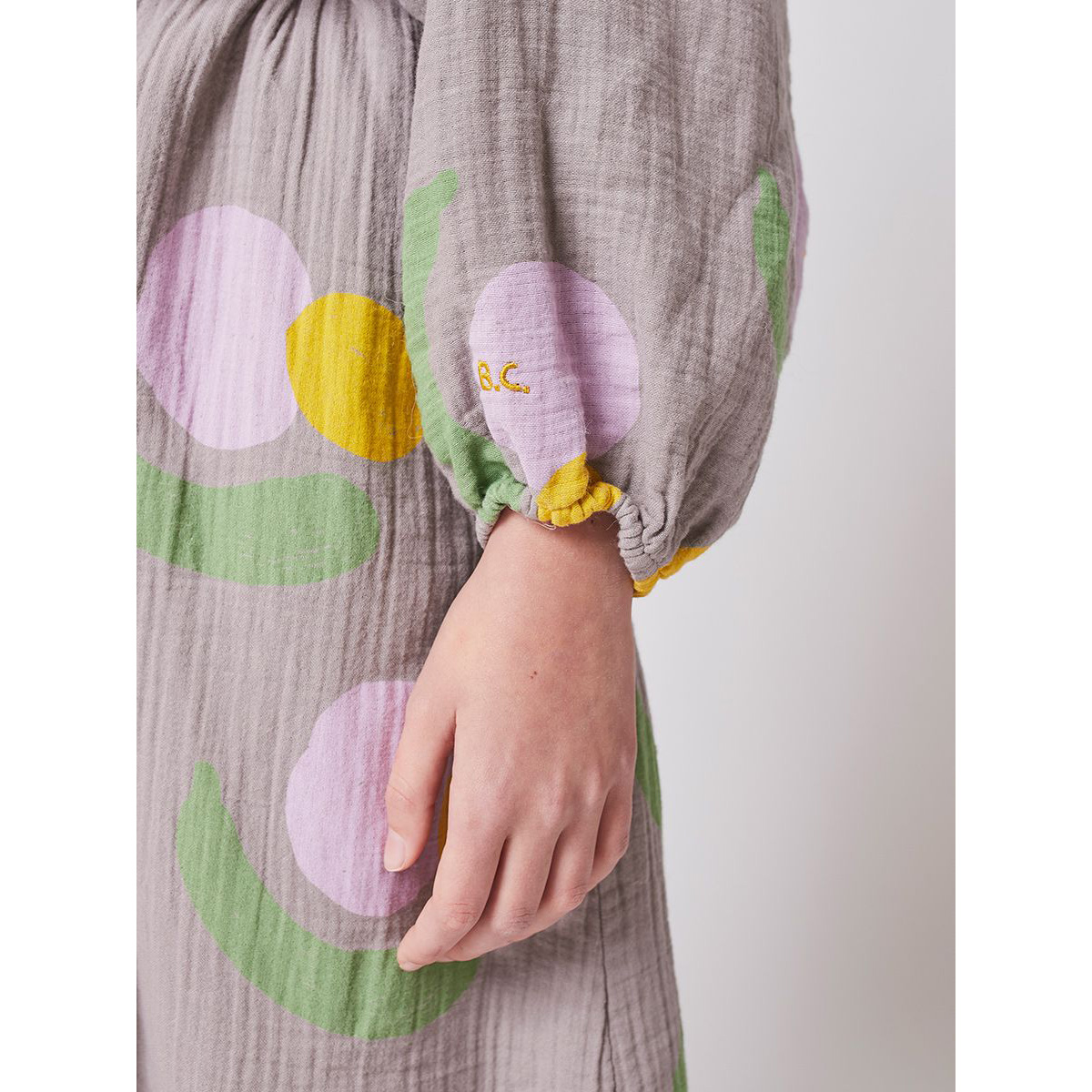From spain BOBO CHOSES Fruits All Over woven dress 100/110/120/130/140-150 オーガニックコットン100%