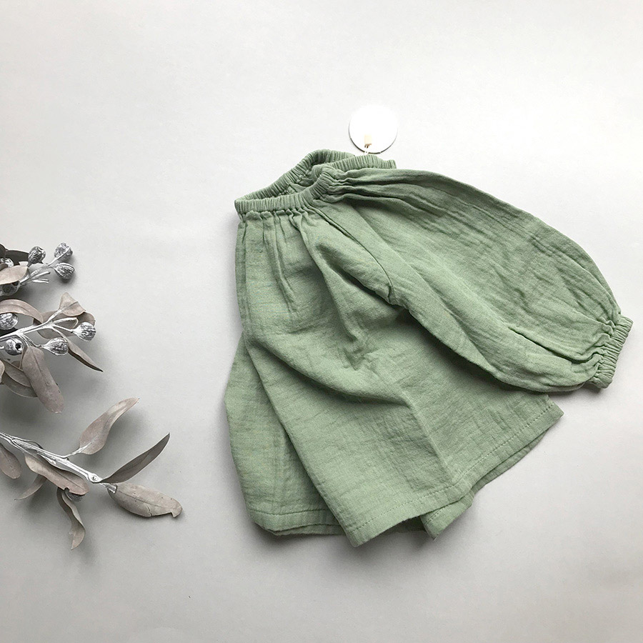[30%OFF] From Germany liilu blouse Organic Cotton Olive 90-100/100-110/110-120