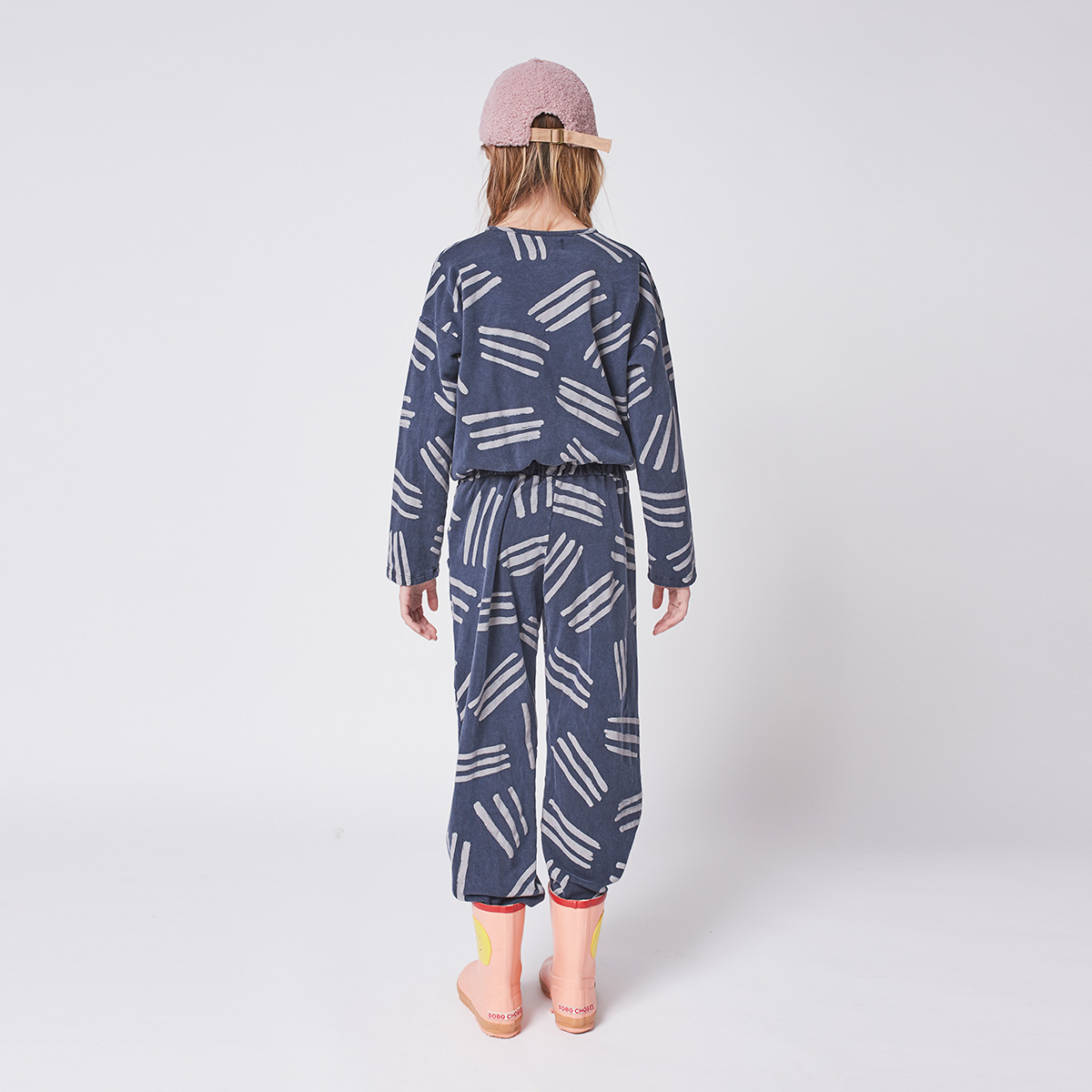 From spain Bobo Choses Scratch All Over fleece overall 110/120/130/140-150/150-160 オーガニックコットン