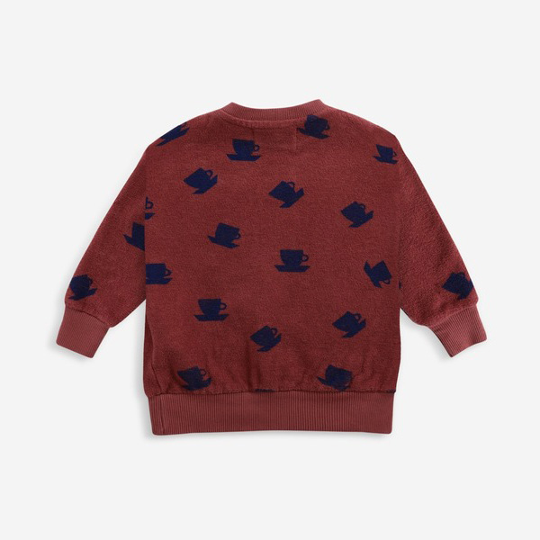 From spain Bobo Choses Cup Of Tea All Over terry sweatshirt 12-18M/24-36M オーガニックコットン