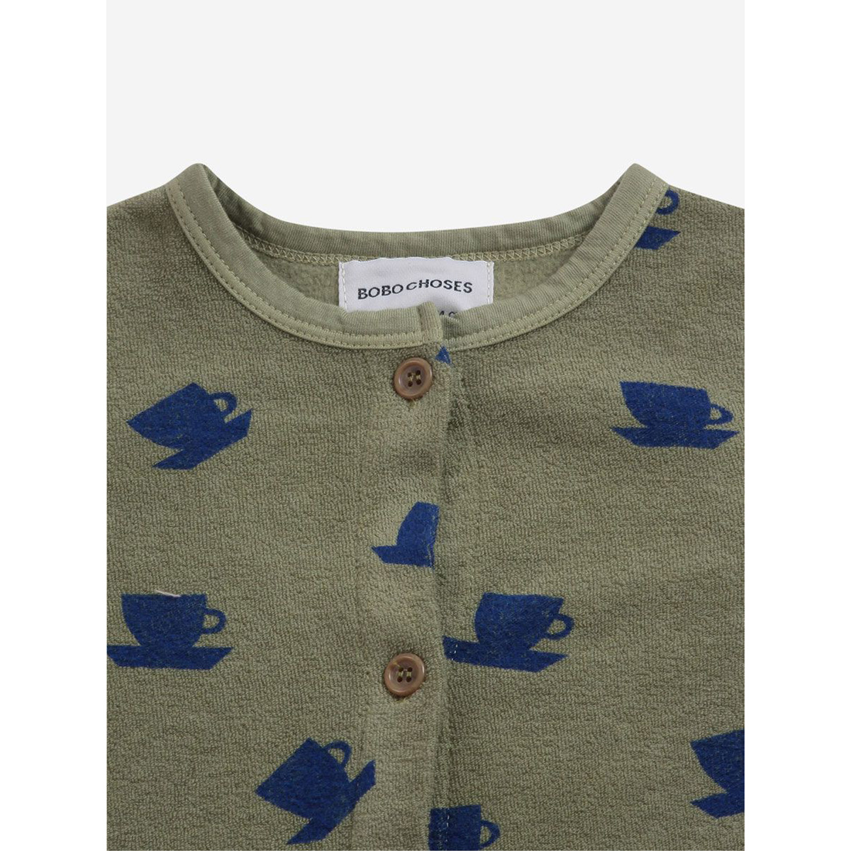 From spain Bobo Choses Cup Of Tea All Over terry overall 12-18M オーガニックコットン