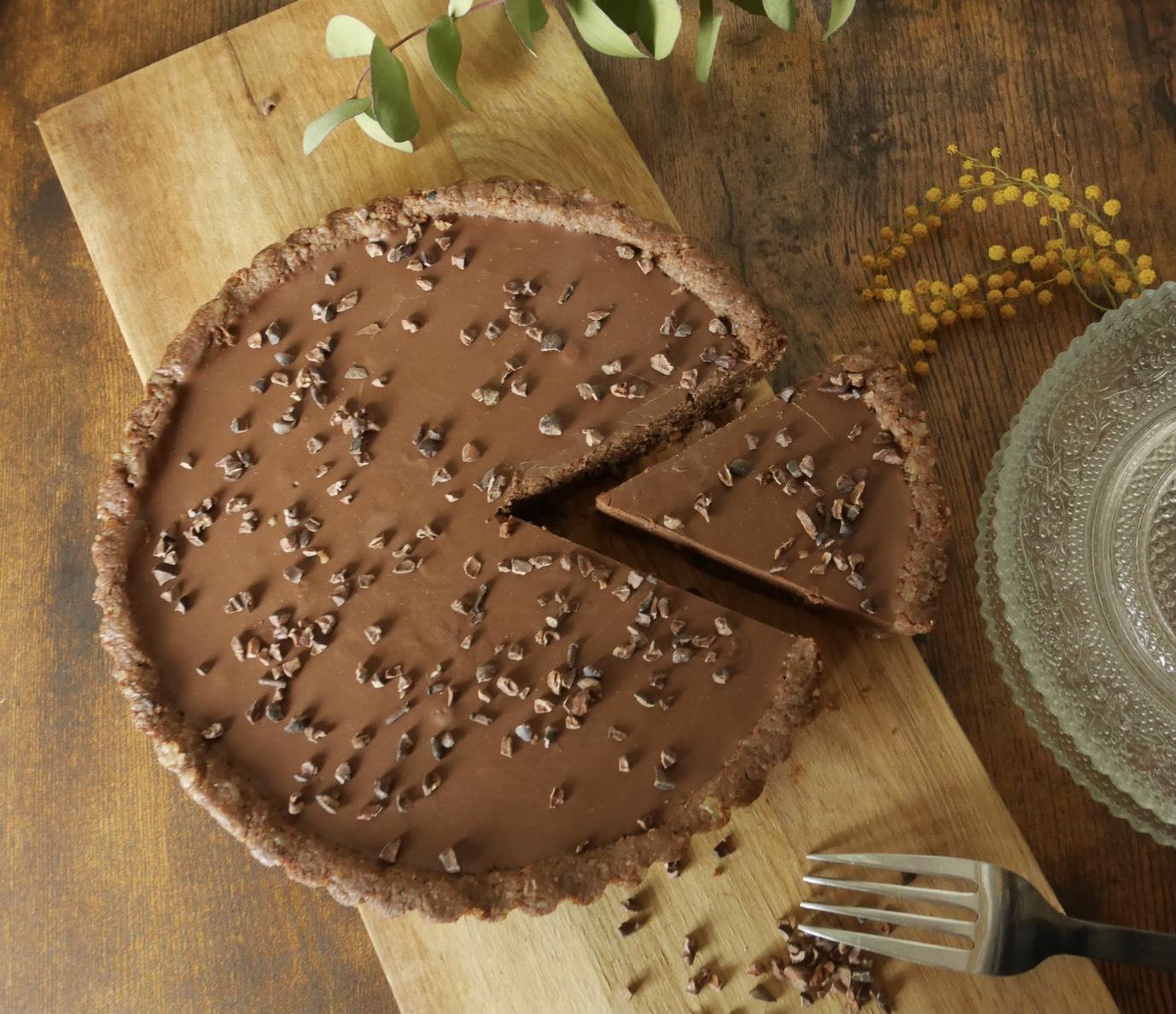 ビーガンローチョコレートタルト