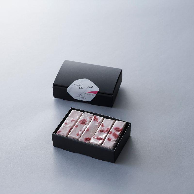 【ストロベリー】ヴィーガンローケーキ(5本セット)※卵・バター・乳・小麦・白砂糖不使用