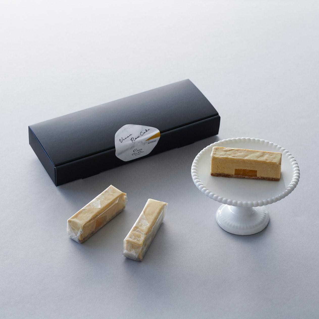 【マンゴー】ヴィーガンローケーキ(10本セット)※ 卵・バター・乳・小麦・白砂糖不使用