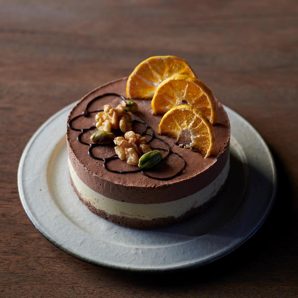 【12cm】ヴィーガンオレンジ&チョコレートケーキ