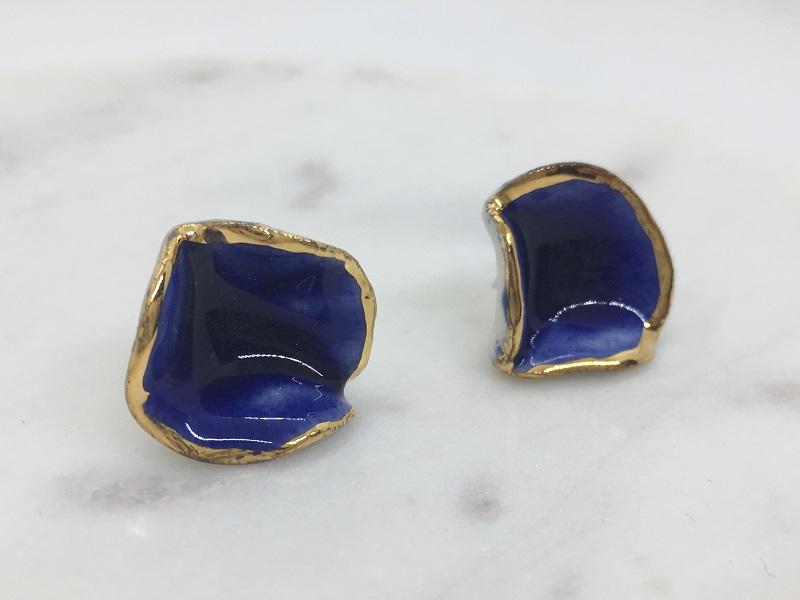 ポピー ピアス (N6 blue)