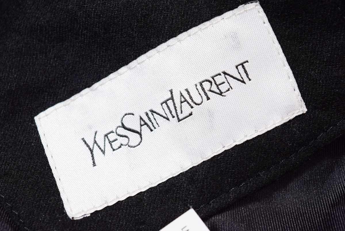 Yves Saint Laurent ラムレザーキルティング ライダース ジャケット