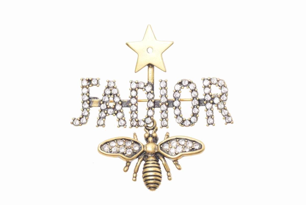 Christian Dior J'ADIOR ロゴ ビー ラインストーン ブローチ