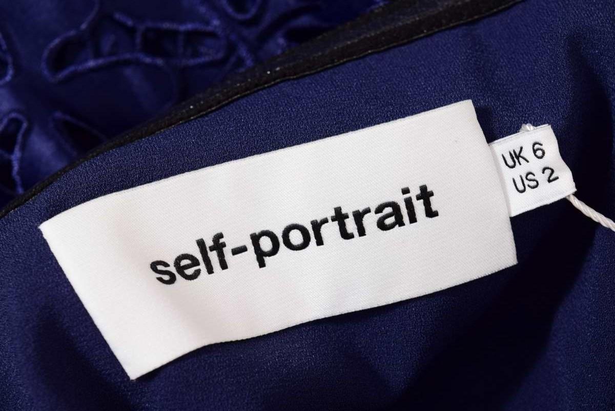 SELF PORTRAIT クローバー刺繍 レース ドレス