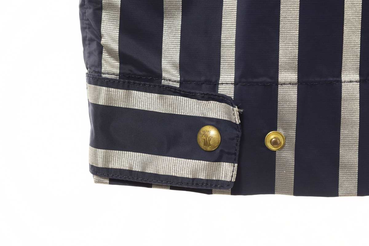 MONCLER Gamme Bleu ストライプ ナイロンジャケット