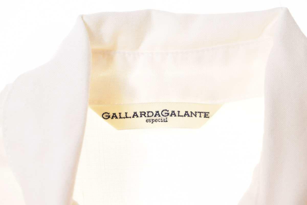 GALLARDA GALANTE カラー切替 リネン シャツ