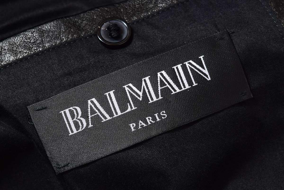 BALMAIN バイカー ライダース レザー ジャケット