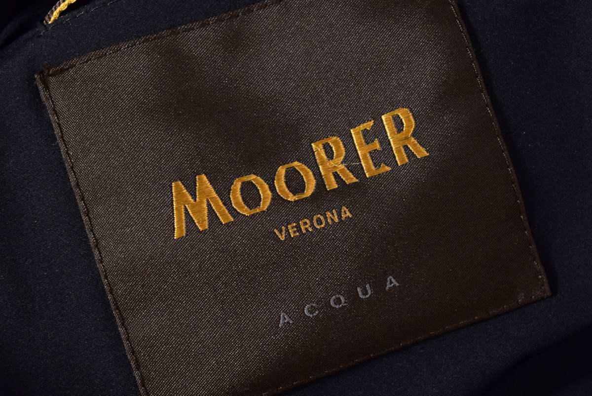 MOORER MORESCO-KN ナイロン ストレッチ フーデッド ファー ダウン ジャケット