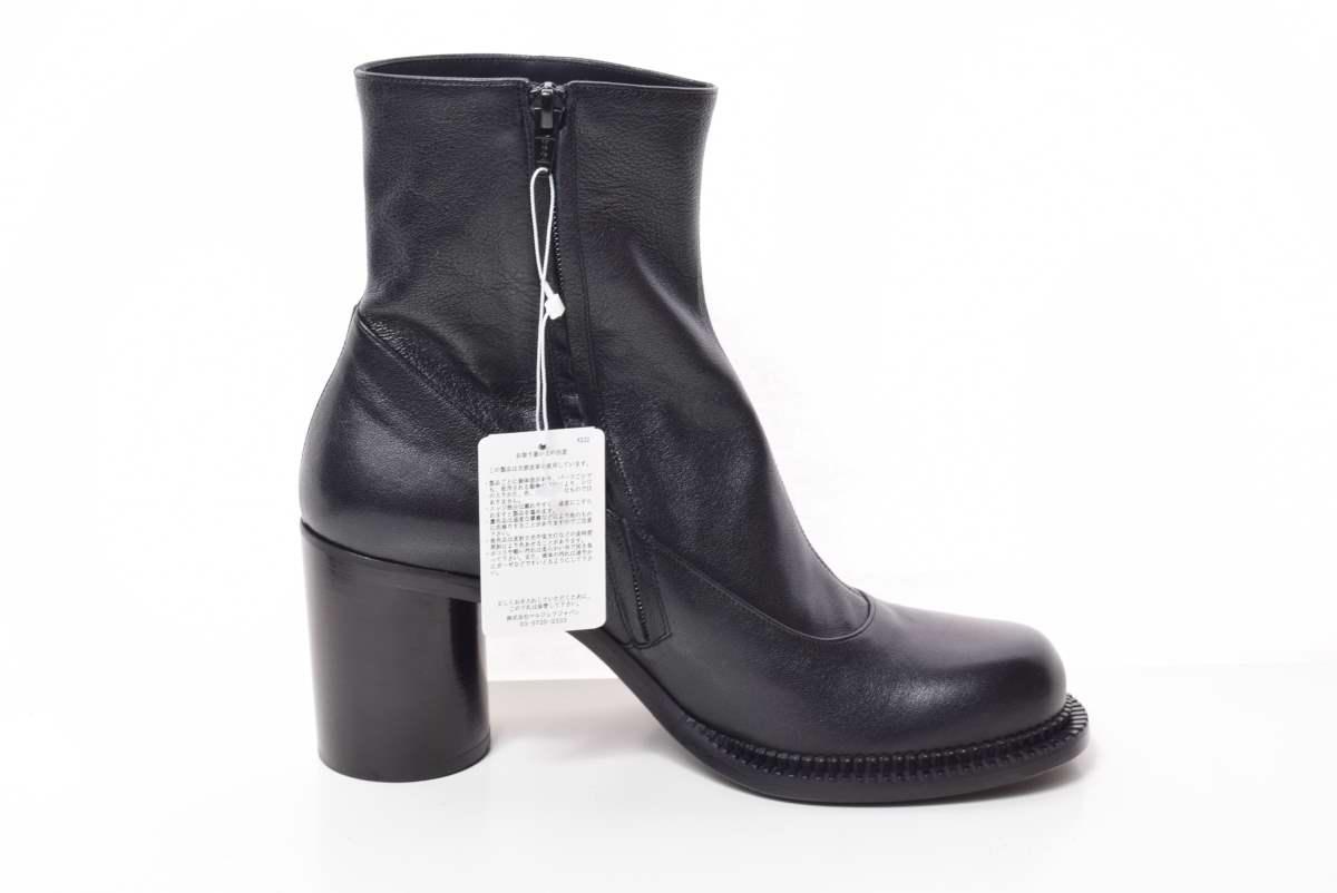 Maison Margiela サイドジップ レザー アンクル ブーツ