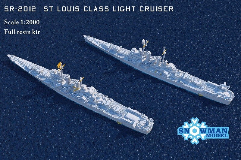 1/2000 アメリカ海軍 セントルイス級軽巡洋艦(2隻入り)