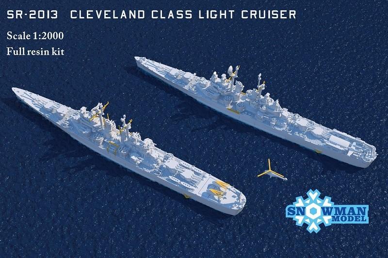 1/2000 アメリカ海軍 クリーブランド級軽巡洋艦(2隻入り)