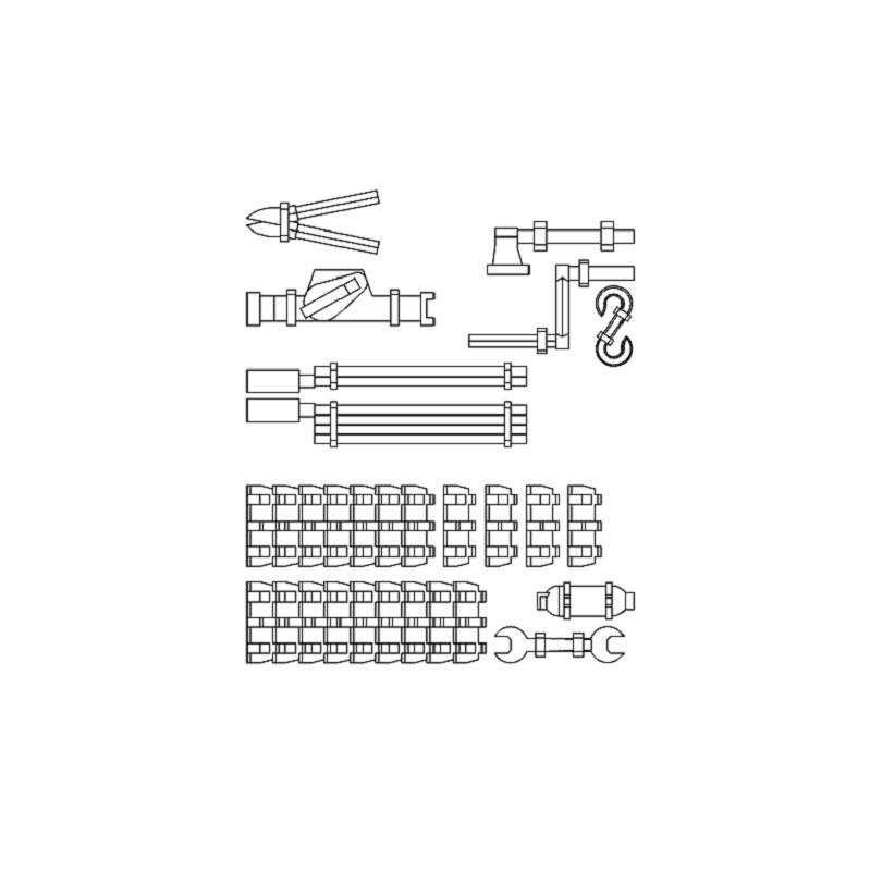 1/144 ドイツ軍車外装備品セット2