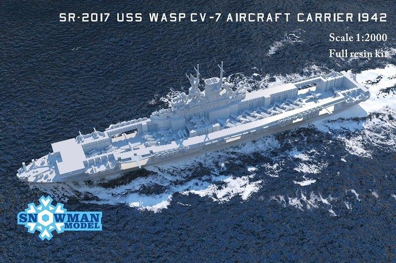 1/2000 アメリカ海軍 CV-7 航空母艦 ワスプ