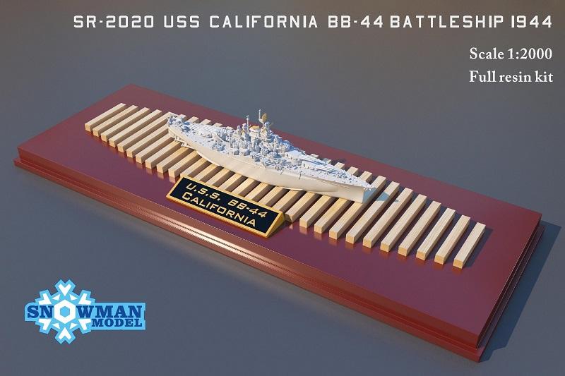 1/2000 アメリカ海軍 BB-44 戦艦 カリフォルニア(1944年時)