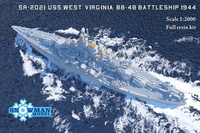 1/2000 アメリカ海軍 BB-48 戦艦 ウエストヴァージニア(1944年時)