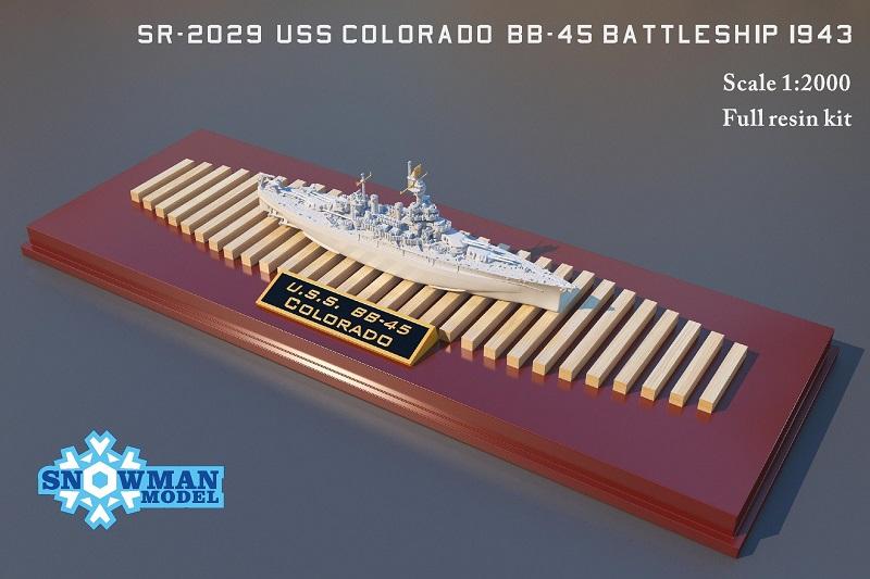 1/2000 アメリカ海軍 BB-45 戦艦 コロラド(1943年時)