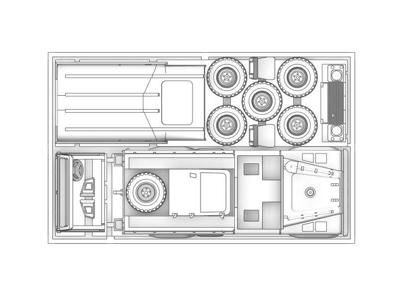 1/144 中型汎用トラック(Wolf110)