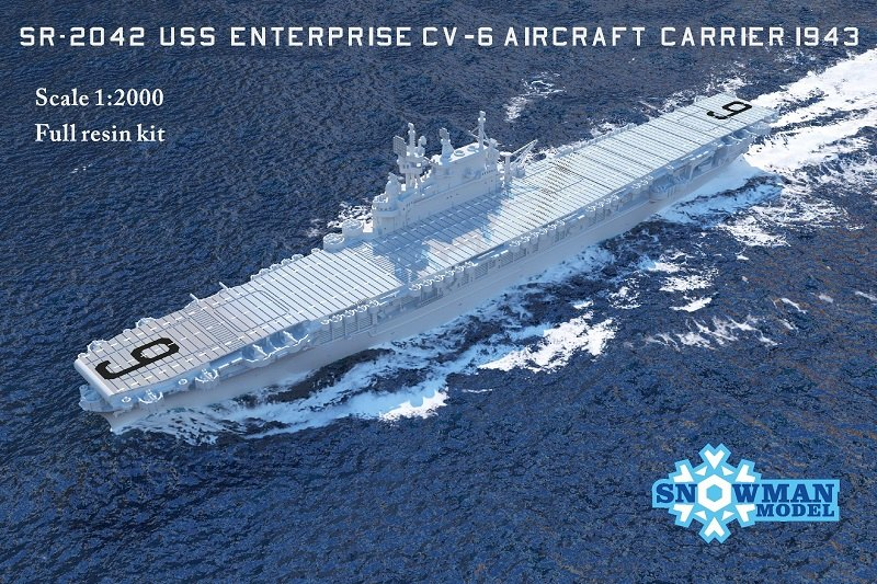 1/2000 アメリカ海軍 CV-6 航空母艦 エンタープライズ(1945年時)