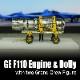 1/144 GE F110 エンジン + ドーリーset