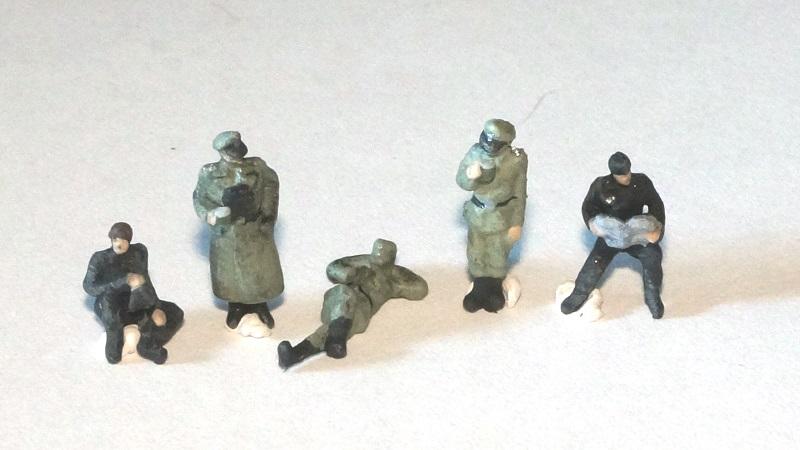 1/144 ドイツ軍兵士セット(休憩中)