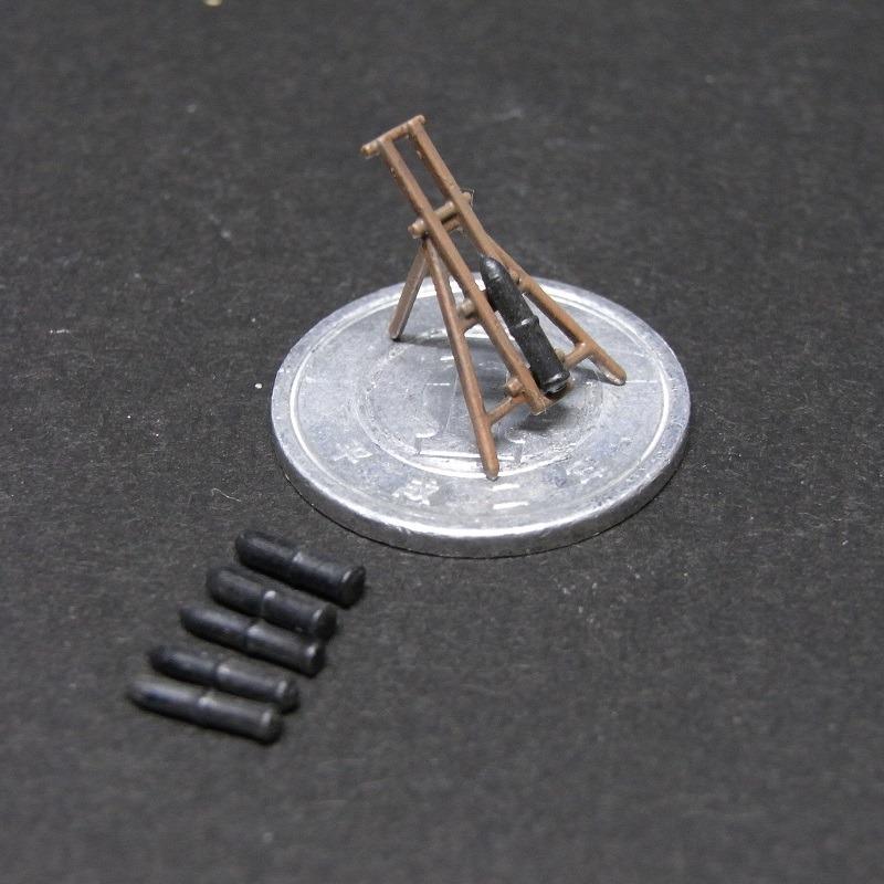 1/144 試製四式二十糎・二十四糎木製噴進砲