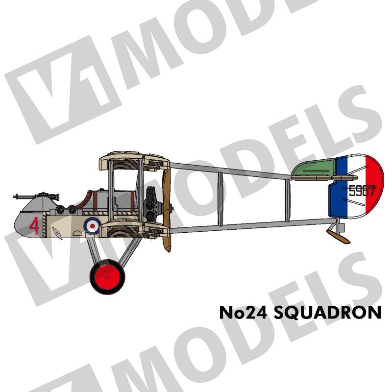 """1/144 エアコーDH.2 """"24SQUADRON"""" (Airco DH.2 """"24SQUADRON"""")"""