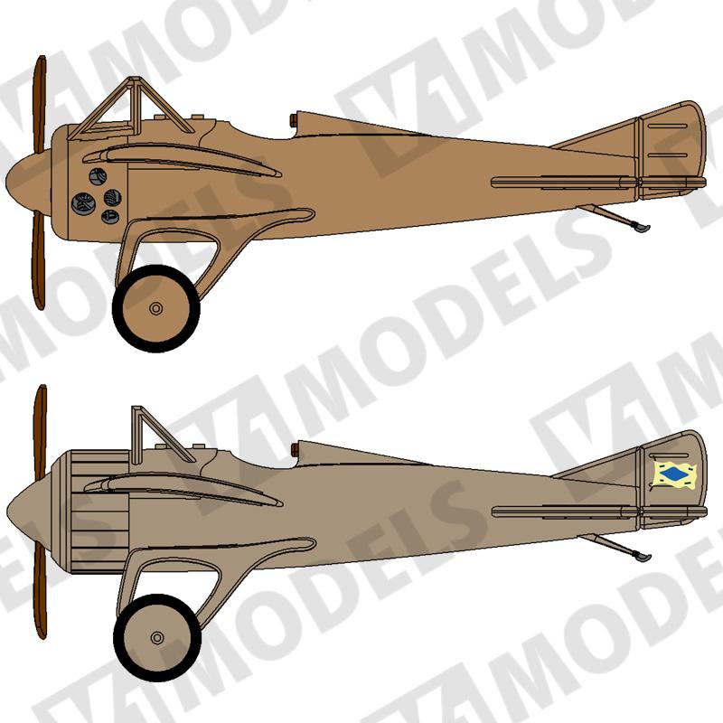 1/144 デュペルドサンモノコックレーサー (Deperdussin Monocoque racer)