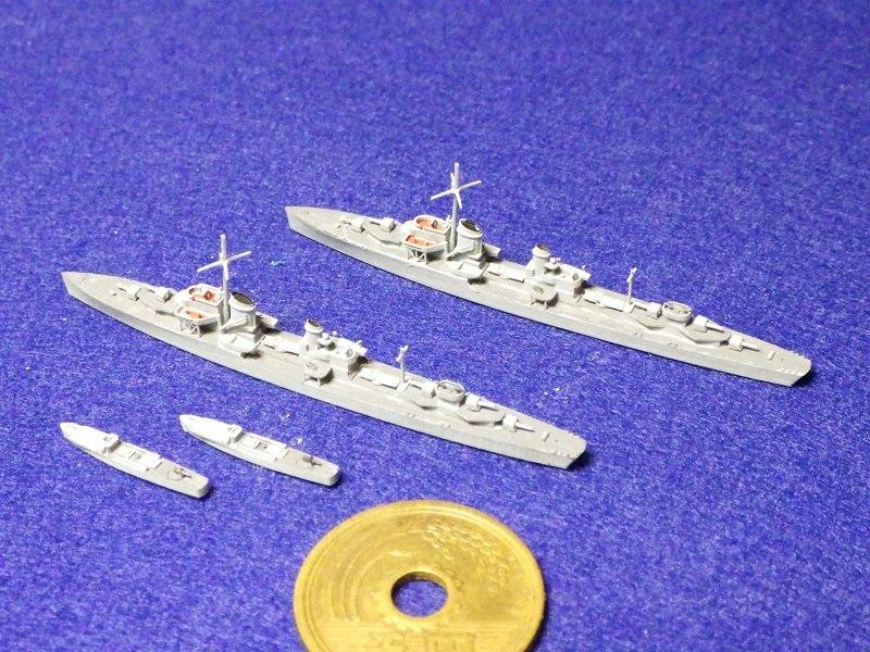 1/2000 Z-1級駆逐艦(2隻セット,Sボート付)(UVレジン版)