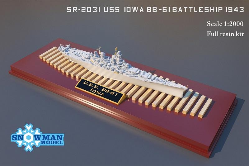 1/2000 アメリカ海軍 BB-61 戦艦アイオワ(1943年時)