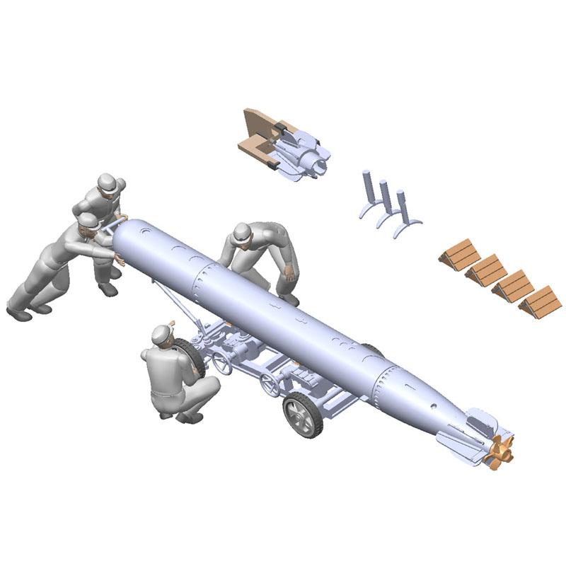 1/72 IJN 91式航空魚雷&雷装兵員セット